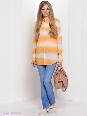 Рубашка Bogner Jeans. Цвет: белый, оранжевый