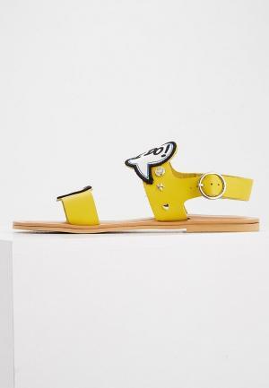 Сандалии Love Moschino. Цвет: желтый