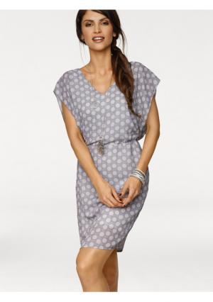 Платье B.C. BEST CONNECTIONS. Цвет: серый/розовый