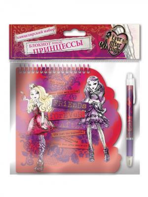 Набор: блокнот 40 листов на спирали + ручка Mattel EAH. Цвет: красный