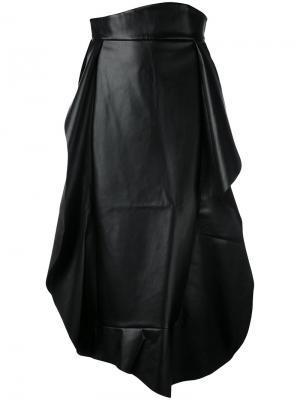 Юбка с плиссировкой A.W.A.K.E.. Цвет: чёрный