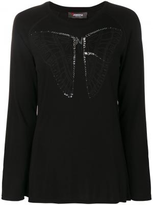 Butterfly longsleeved top Jo No Fui. Цвет: чёрный