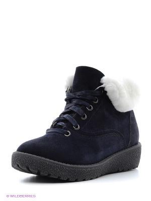Ботинки Bagira. Цвет: синий
