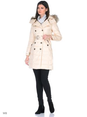 Пальто Romantic Collection.. Цвет: кремовый