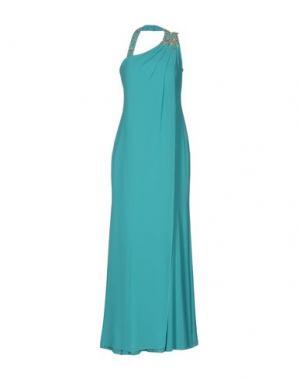 Длинное платье MUSANI COUTURE. Цвет: бирюзовый