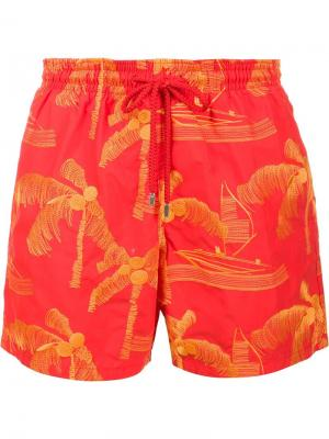 Шорты для плавания Mistral Vilebrequin. Цвет: жёлтый и оранжевый