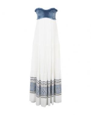 Длинное платье KOCCA. Цвет: белый