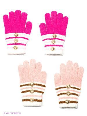 Перчатки, 2 пары FOMAS. Цвет: розовый, красный