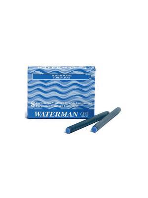 Картридж с чернилами для перьевой ручки LONG Waterman. Цвет: синий