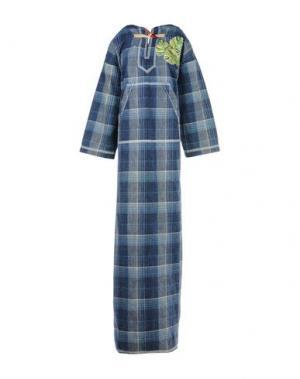 Длинное платье DSQUARED2. Цвет: синий