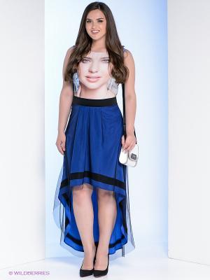 Сарафан Milana Style. Цвет: синий, бежевый