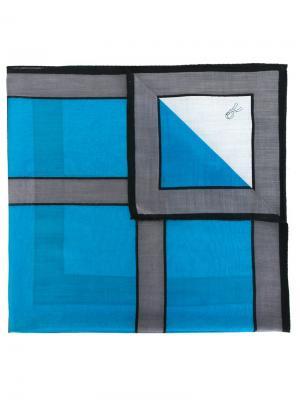 Шарф с геометрическим принтом Roberta  Di Camerino Vintage. Цвет: синий