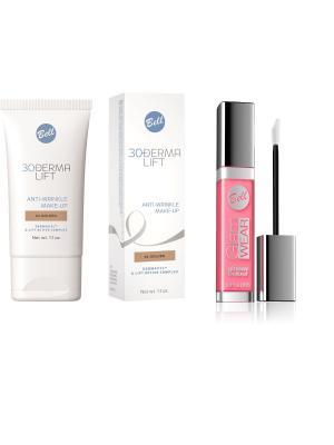 Спайка  флюид матирующий тон 1+ блеск glam wear glossy lip gloss 33 Bell. Цвет: бежевый, розовый