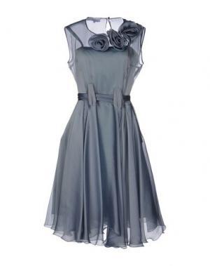 Платье до колена LUISA BECCARIA. Цвет: серый