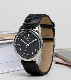 Limit Часы с черным парусиновым ремешком эксклюзивно для ASOS. Цвет: черный