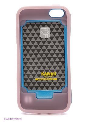 Чехол светящийся для iPhone 5/5s iFace (голубой) Kawaii Factory. Цвет: голубой, бледно-розовый