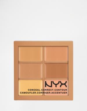 NYX Professional Makeup Набор корректирующих и контурирующих средств Make-Up. Цвет: мульти