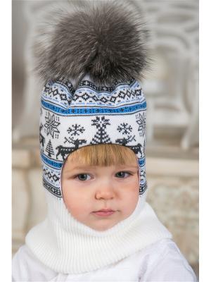 Балаклава LFC. Цвет: белый, серый, голубой