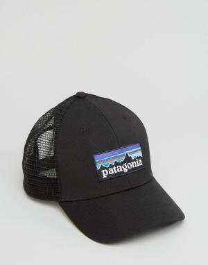 Patagonia Черная бейсболка с логотипом. Цвет: черный