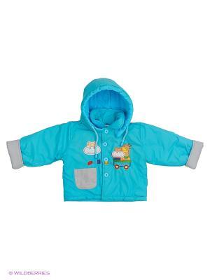 Куртка Kidly. Цвет: бирюзовый, серый, голубой