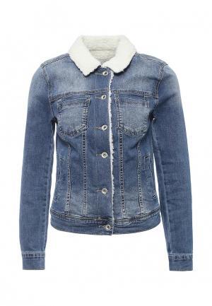 Куртка Miss Bon. Цвет: голубой