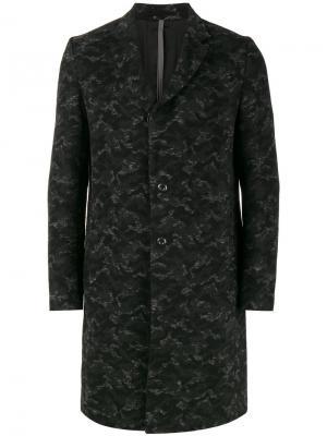 Пальто с камуфляжным принтом Kazuyuki Kumagai. Цвет: серый