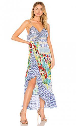 Платье-комбинация Camilla. Цвет: синий