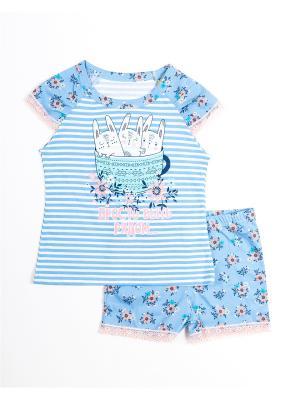 Пижама Mark Formelle. Цвет: голубой, белый, бледно-розовый