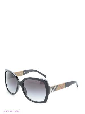 Солнцезащитные очки BURBERRY. Цвет: черный