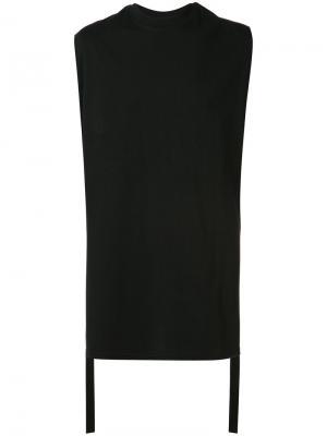 Майка с ремешками по бокам D.Gnak. Цвет: чёрный