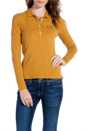 Рубашка-поло Galvanni. Цвет: коричневый