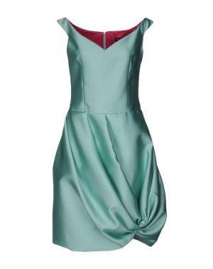 Короткое платье IVAN MONTESI. Цвет: светло-зеленый