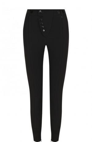 Однотонные брюки-скинни Alexander Wang. Цвет: черный