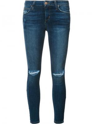 Джинсы скинни с потертой отделкой Joes Jeans Joe's. Цвет: синий