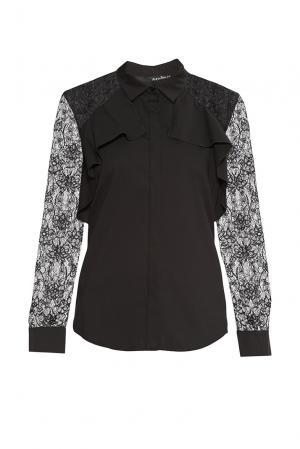 Блуза из хлопка 177433 Anna Rita N. Цвет: черный