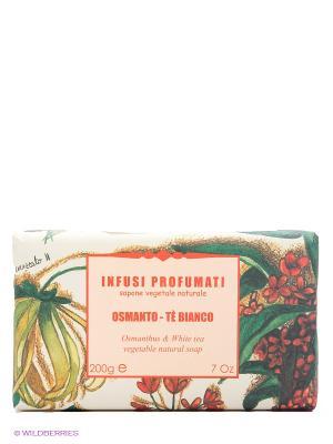 Натуральное  мыло с осматусом и белым чаем, 150 гр Iteritalia. Цвет: красный