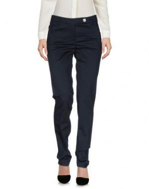Повседневные брюки LAURA LINDOR. Цвет: темно-синий