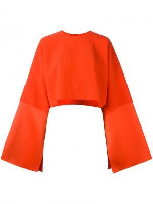 Блузка Iskra Solace. Цвет: жёлтый и оранжевый