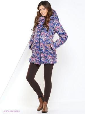 Куртка impressmama. Цвет: синий, розовый