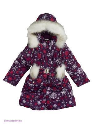 Пальто для девочки Rusland. Цвет: фиолетовый