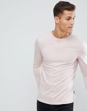 Burton Menswear Розовый лонгслив. Цвет: розовый