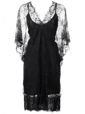 Кружевное платье с V-образным вырезом Loyd/Ford. Цвет: чёрный
