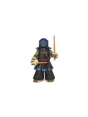 Фигурка Черепашки-ниндзя 28см Леонардо, серия DoJo Playmates toys. Цвет: зеленый, фиолетовый, черный