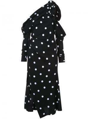 Платье в горох Monse. Цвет: чёрный
