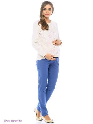 Брюки джинса для беременных Nuova Vita. Цвет: голубой