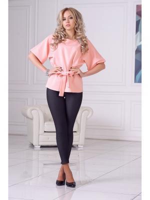 Блуза LIORA. Цвет: бледно-розовый