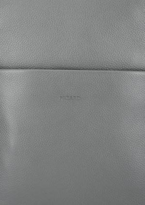 Серый кожаный рюкзак с узкими лямками Picard. Цвет: серый