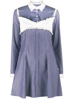 Платье-рубашка Daisy Sandy Liang. Цвет: синий