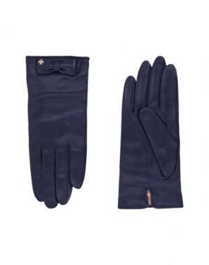 Перчатки TORY BURCH. Цвет: темно-синий