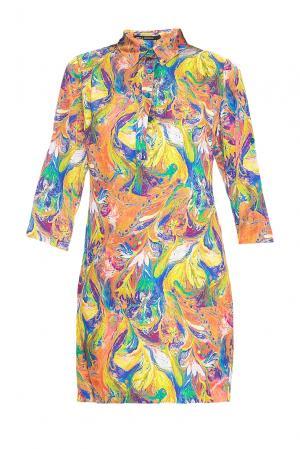 Платье из искусственного шелка 167877 Paola Morena. Цвет: оранжевый